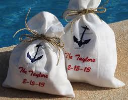 nautical gift bags nautical wedding nautical favor bags 4 wedding favor bags