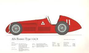 Bureau Olier Vintage Alfa Romeo Type 158 9 Vintage Historic Racing Car Print By George