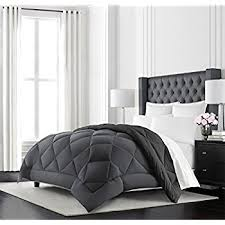 Black Comforter King Amazon Com Amazonbasics Reversible Microfiber Comforter King