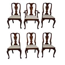 Pictures Of Queen Anne Chairs by Henkel Harris Cherry Wood Queen Anne Chairs 6 Chairish