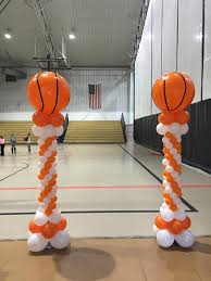 basketball balloon columns balloonatics llc creations