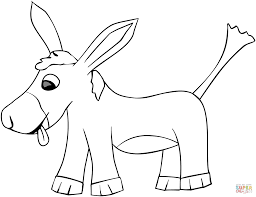 cartoon donkey coloring free printable coloring pages