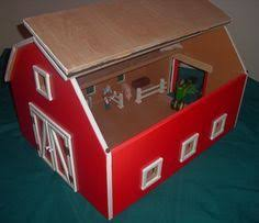 Kids Wood Crafts - free wood toy barn plans com hip roof toy barn our amish