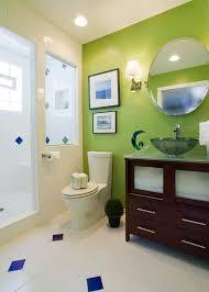 bathroom lime green bathroom with double sink vanity and floor