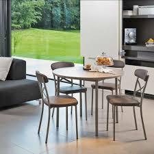 table de cuisine ronde table de cuisine ronde en stratifié avec rallonge basic 4 pieds