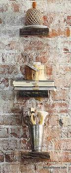roost rustic wood wall shelves set 2 modish store