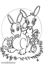 rabbit family coloring pages hellokids