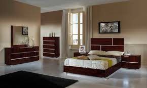 Italian Modern Bedroom Furniture modrest picasso italian modern ebony lacquer cal king bedroom set