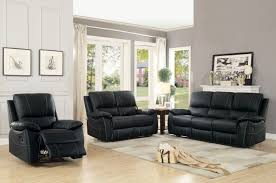 Reclining Living Room Furniture Sets Homelegance Greeley Reclining Sofa Set Top Grain Leather Match
