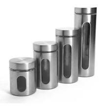 stainless steel kitchen canisters stainless steel kitchen canister sets ebay