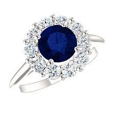 diana wedding ring 6 5mm sapphire diamond halo engagement ring princess diana