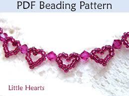 beaded heart bracelet images Little hearts beaded bracelet pdf beading pattern simple bead jpg
