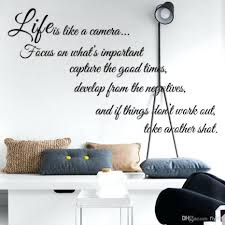 wall decor fascinating life is like a camera quote wall stickers fascinating life is like a camera quote wall stickers decal home decor for living bed room