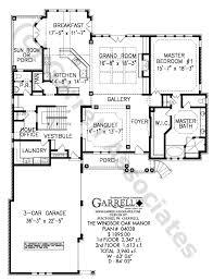 winsor oak manor house plan house plans by garrell associates inc