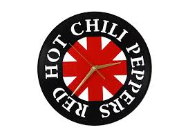 red chili peppers clock vinyl record clock by revinyli
