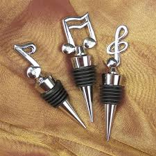 musician s wine bottle stopper at the stand
