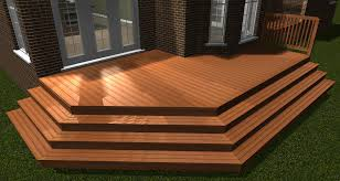 wrap around deck designs deck stairs automatically miters and places stairs along the edge