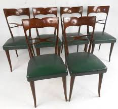 Modern Leather Dining Chairs Set Of Guglielmo Ulrich Style Mid Century Modern Italian Dining