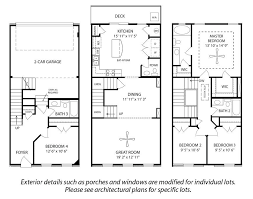 townhome plans 3 story house floor plans