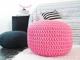 Pink Pouf Ottoman Bright Pink Pouf Ottoman Nursery Decor Footstool Pouf Regarding