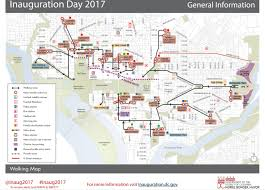 Dc Metro Blue Line Map by Inauguration Day 2017 Survival Guide Street Closures Metro