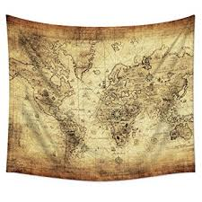 Amazon Antique Map Tapestry Wall Hanging – Uphome Light