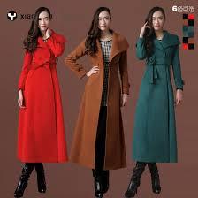 Long Trench Coats For Women Long Winter Trench Coat