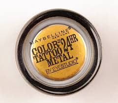 maybelline gold rush color tattoo metal eyeshadow review photos