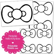 free printable kitty bow printable treats baby shower