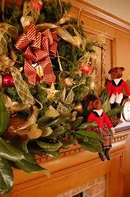 hunt themed christmas mantel