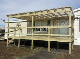 amazing mobile home deck designs 45 great manufactured porch on