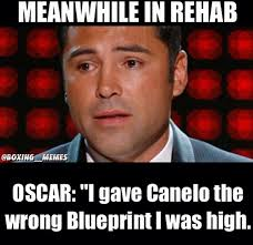 Canelo Meme - floyd mayweather mocks oscar de la hoya over instagram larry brown