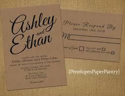 kraft paper wedding invitations 35 best rustic kraft paper summer wedding invitations images on