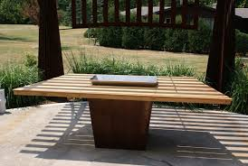 outdoor patio table wood chic and stylish outdoor patio table