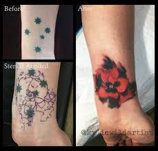 southern cross tattoo cover up with poppy by kylie wild heslop