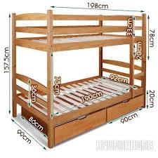 bunk bed measurements starlet bunk bed with storage warm honey color bedroom nz s