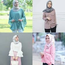 model baju 18 model baju muslim modern 2018 desain casual simple modis