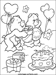 dessin à colorier gateau anniversaire 10 ans