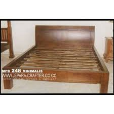 Dipan Kayu Kalimantan jual dipan tempat tidur minimalis mpb 248 bahan kayu jati oleh