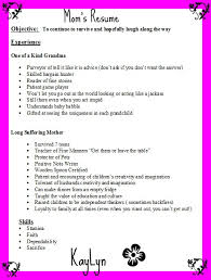 Sample Resume For Stay At Home Mom Returning To Work by Funny Mom Grandma Resume My Style Pinterest