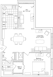 large one bedroom floor plans large one bedroom with den erickson living