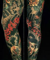 japanese sleeve designs black and grey inspired