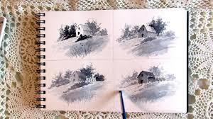 exploring thumbnail sketching in watercolor vlog 15 youtube