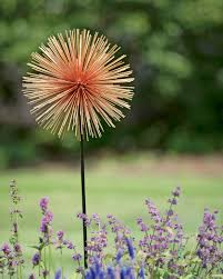 allium flowers large allium sunburst stake metal garden flowers gardeners