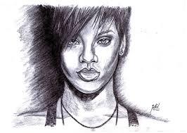 sketch of hollywood celebrity rihanna desipainters com