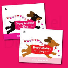 valentines cards for kids classroom cards kids dog theme puppy dachshund dog