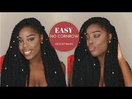 cornrows with no hairline how to easy 1 hour no cornrows individual crochet braids twist