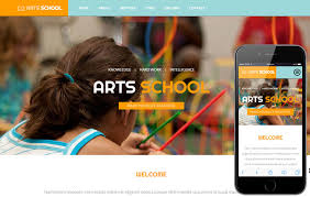 responsive web design layout template arts school a educational category flat bootstrap responsive web
