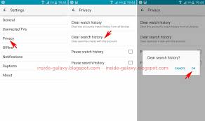 how to clear search history on android samsung galaxy s4 how to clear search history in app in