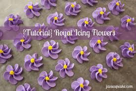 Flowers By Violet - tutorial royal icing flowers javacupcake